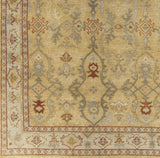 Surya Castle CSL-6000 Gold Hand Knotted Area Rug Sample Swatch