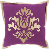 Surya Cosette Sparkling Damask CT-004 Pillow 18 X 18 X 4 Poly filled