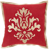 Surya Cosette Sparkling Damask CT-005 Pillow 22 X 22 X 5 Down filled