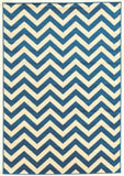 Linon Claremont Collection RUGCT01 Blue/Ivory Area Rug main image