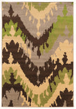 Linon Claremont Collection RUGCT06 Brown/Green Area Rug main image