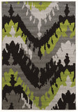 Linon Claremont Collection RUGCT07 Black/Grey Area Rug main image