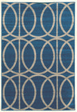 Linon Claremont Collection RUGCT09 Blue/Grey Area Rug main image