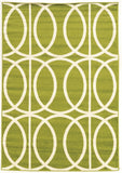 Linon Claremont Collection RUGCT10 Green/Ivory Area Rug main image