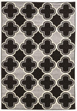 Linon Claremont Collection RUGCT12 Black/Grey Area Rug main image