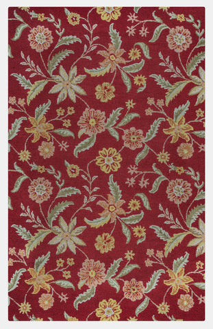 Rizzy Country CT1585 Red Area Rug