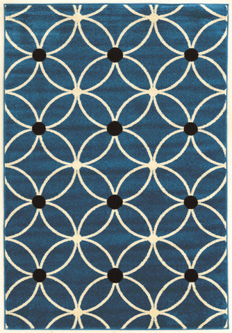 Linon Claremont Collection RUGCT15 Blue/Ivory Area Rug main image