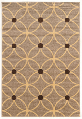 Linon Claremont Collection RUGCT16 Beige/Brown Area Rug main image