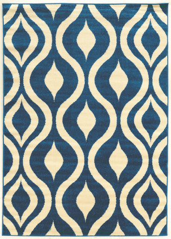 Linon Claremont Collection RUGCT21 Blue/Ivory Area Rug main image