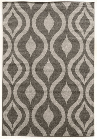 Linon Claremont Collection RUGCT22 Grey/Grey Area Rug main image
