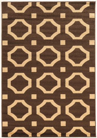 Linon Claremont Collection RUGCT23 Brown/Beige Area Rug main image