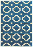 Linon Claremont Collection RUGCT24 Blue/Ivory Area Rug main image
