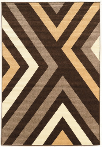 Linon Claremont Collection RUGCT25 Brown/Beige Area Rug main image