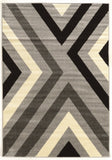 Linon Claremont Collection RUGCT26 Black/Grey Area Rug main image