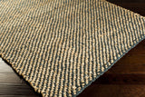 Surya Country Jutes CTJ-2031 Gold Hand Woven Area Rug by Living 5x8 Corner