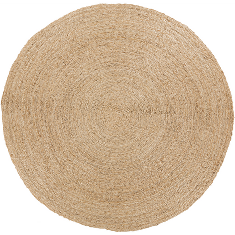 Surya Country Jutes CTJ-2036 Beige Area Rug by Living 8' Round