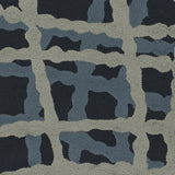 Surya Courtyard CTY-4008 Navy Hand Hooked Area Rug by Candice Olson Sample Swatch