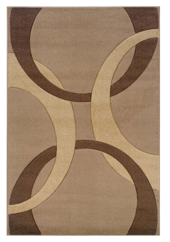 Linon Corfu RUG-CU01 Tan/Brown Area Rug main image
