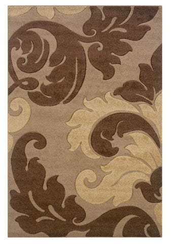 Linon Corfu RUG-CU08 Tan/Brown Area Rug main image