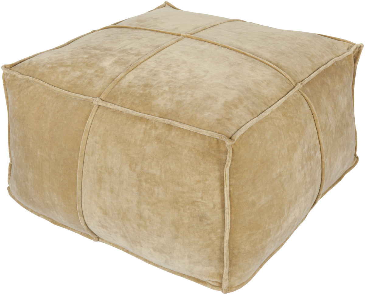 Surya Cotton Velvet CVPF-002 Neutral Pouf