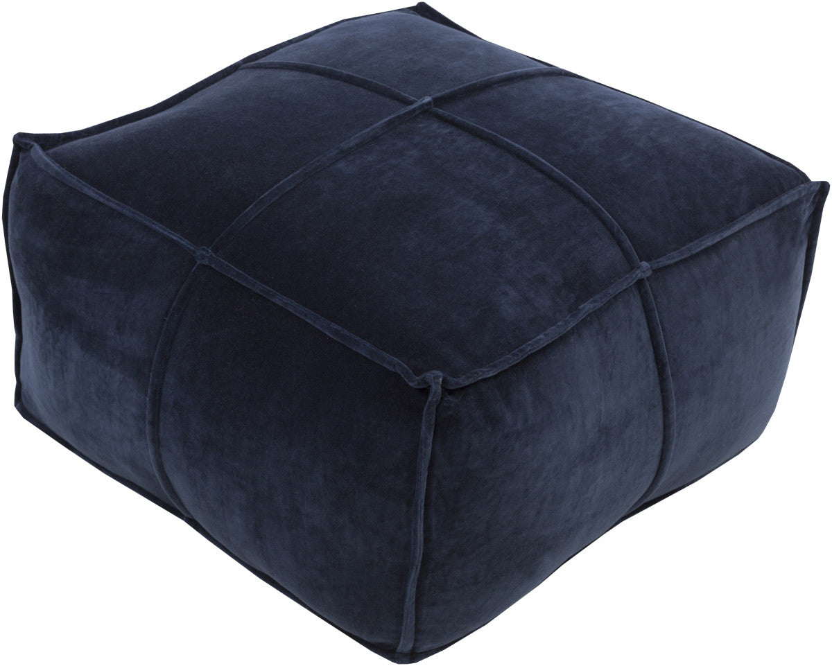 Surya Cotton Velvet CVPF-005 Blue Pouf