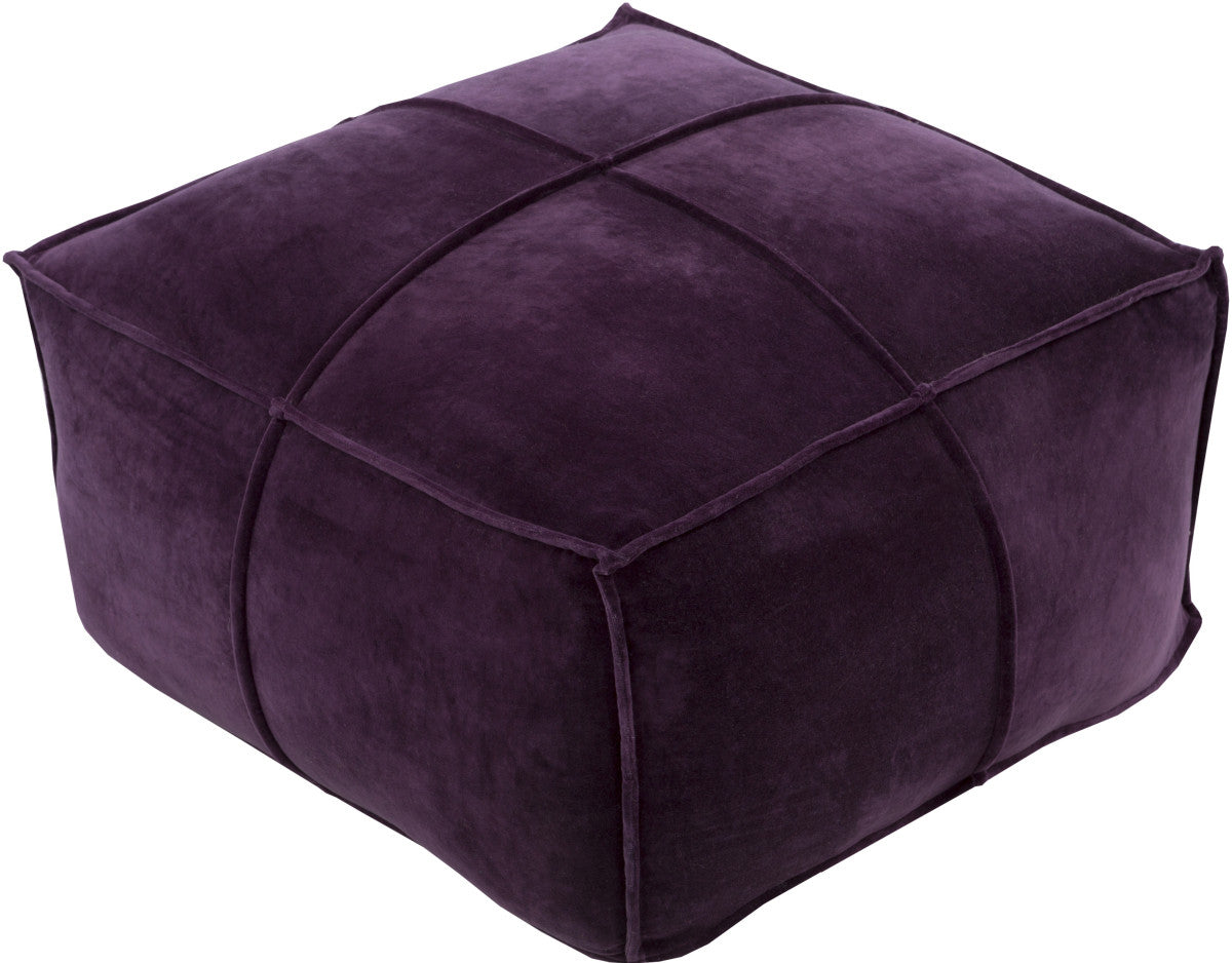 Surya Cotton Velvet CVPF-006 Purple Pouf
