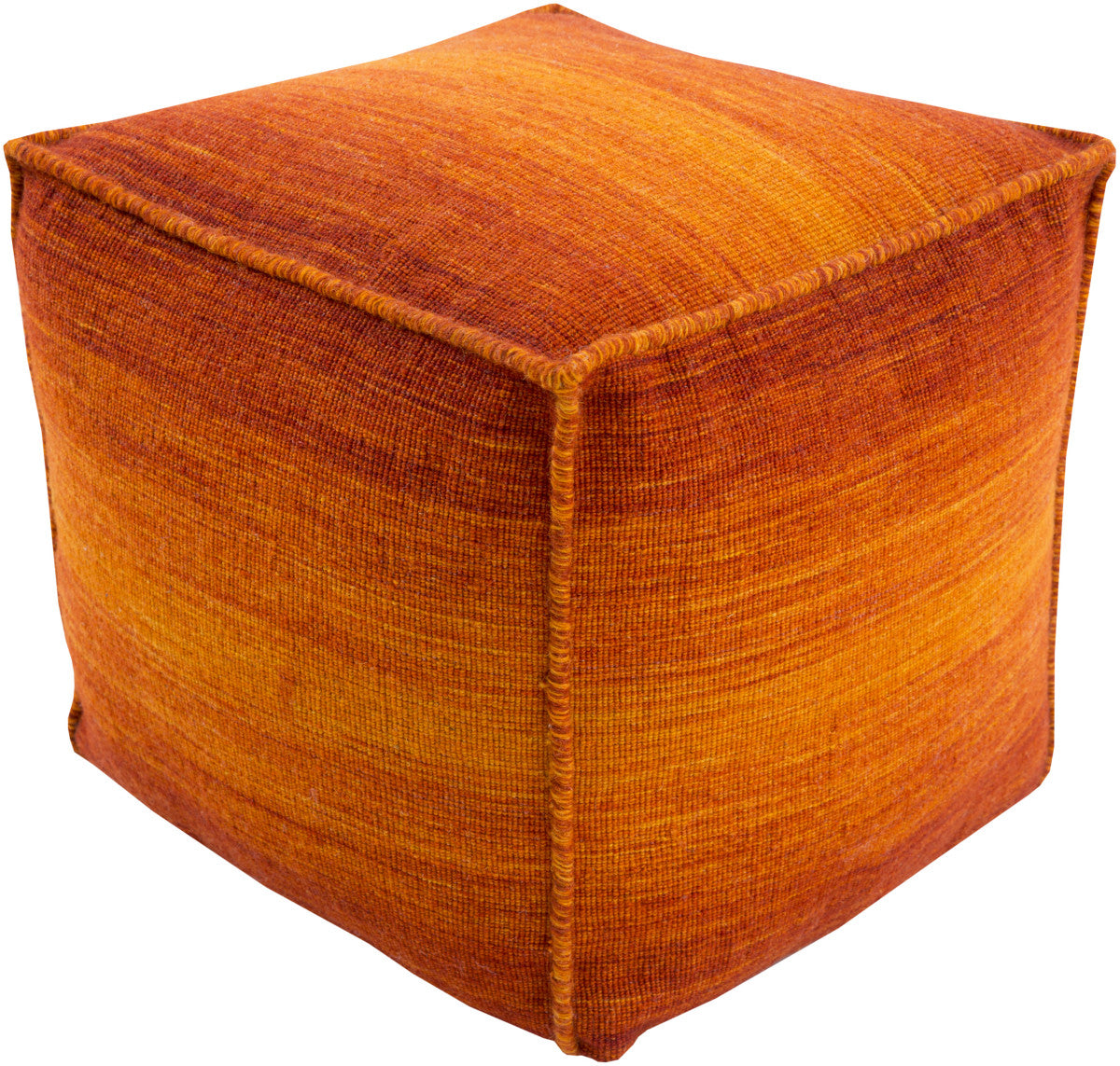 Surya Chaz CZPF-001 Orange Pouf