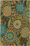 LR Resources Dazzle 03501 Taupe Hand Hooked Area Rug 7'9'' X 9'9''