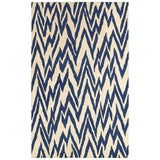 LR Resources Dazzle 54016 Beige/Blue Hand Hooked Area Rug 5' X 7'9''
