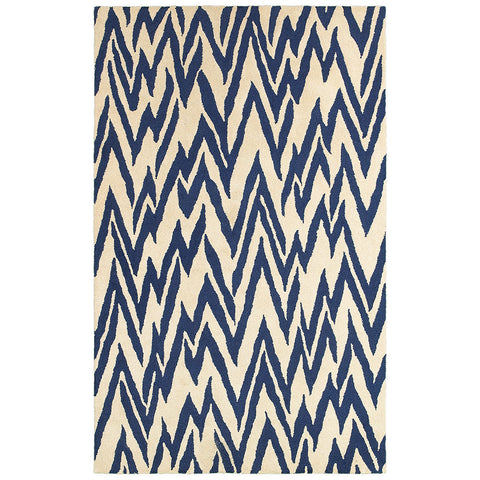 LR Resources Dazzle 54016 Beige/Blue Area Rug