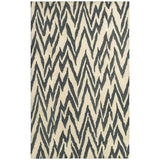 LR Resources Dazzle 54017 Beige/Coal Hand Hooked Area Rug 5' X 7'9''