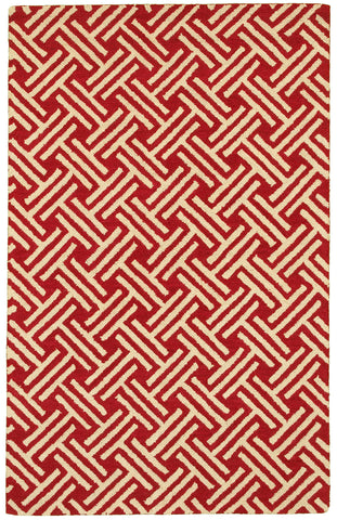 LR Resources Dazzle 54022 Red Area Rug