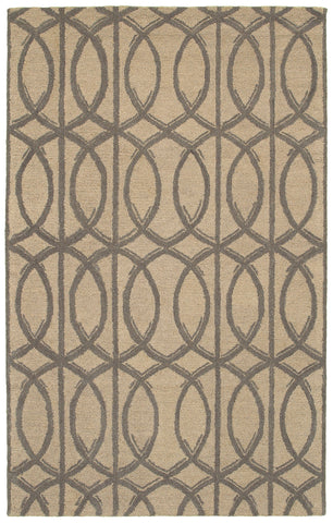 LR Resources Dazzle 54023 Taupe Area Rug