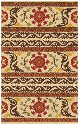 LR Resources Dazzle 54034 Ivory Area Rug
