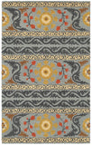 LR Resources Dazzle 54035 Gray Hand Hooked Area Rug 3'6'' X 5'6''