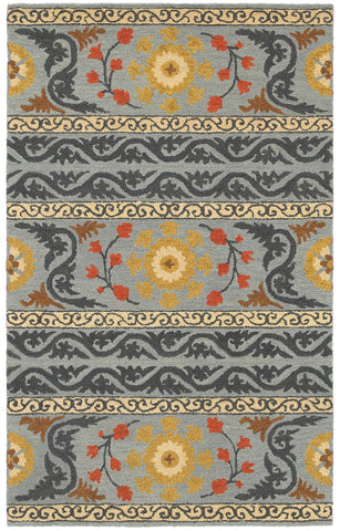 LR Resources Dazzle 54035 Gray Area Rug