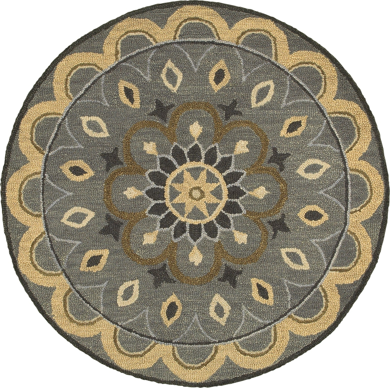 LR Resources Dazzle 54055 Gray Area Rug main image