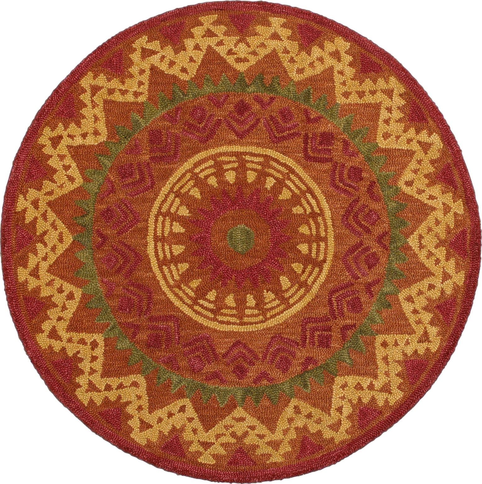 LR Resources Dazzle 54059 Rust Area Rug main image