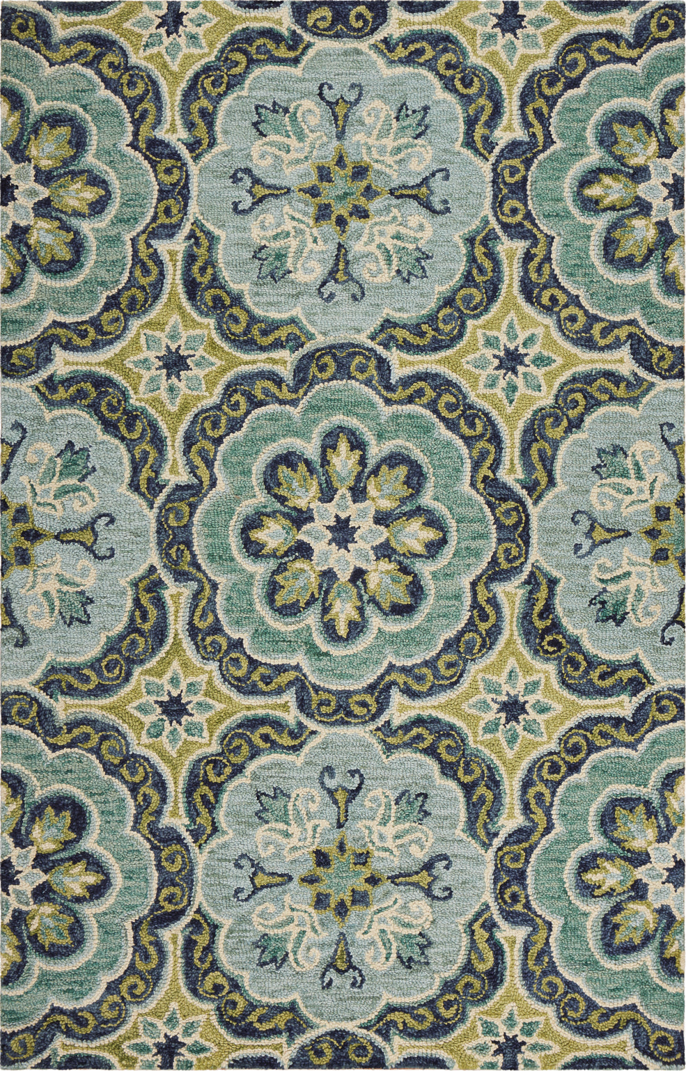 LR Resources Dazzle 54076 Green Area Rug main image