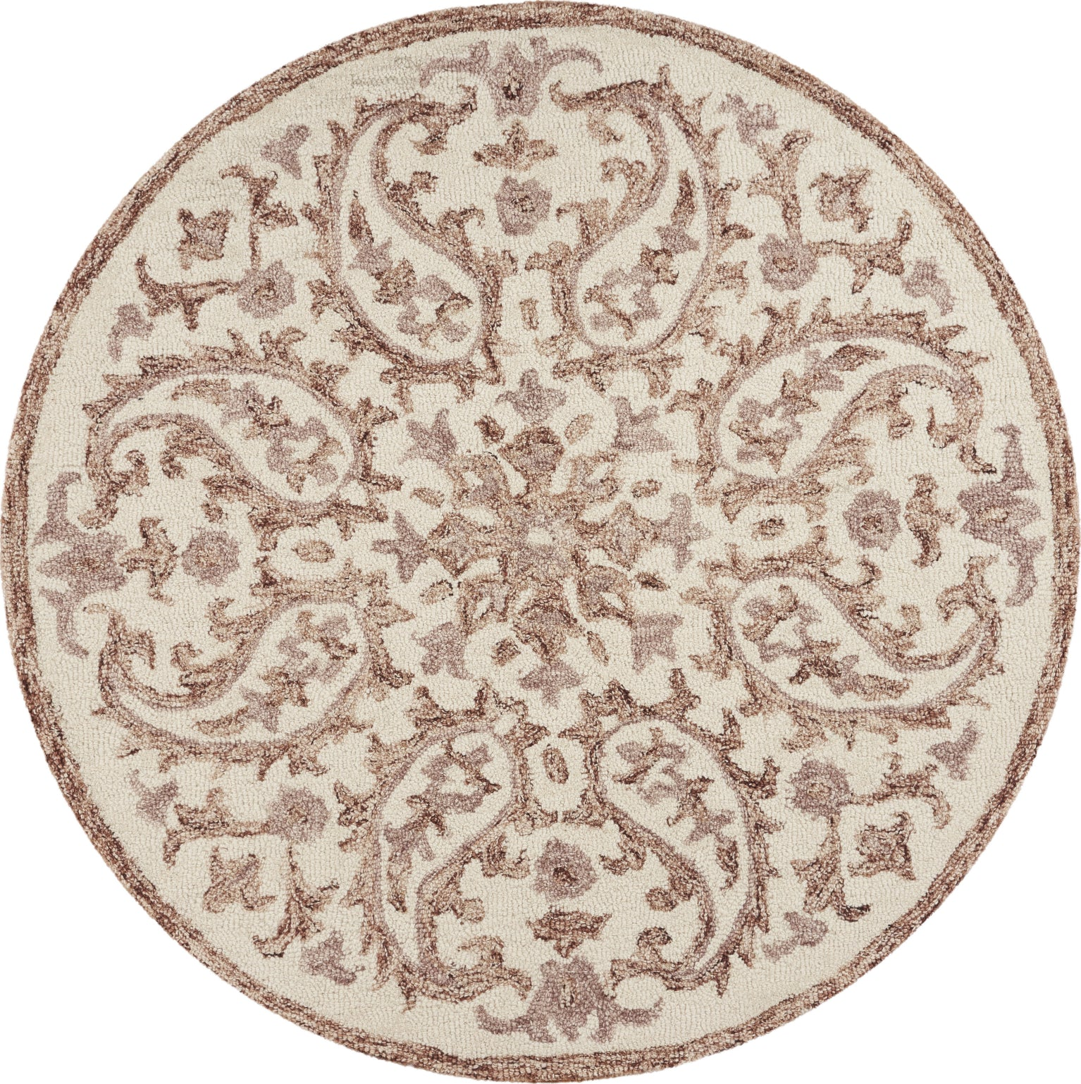 LR Resources Dazzle Faded Floral Ivory / Red Area Rug main image