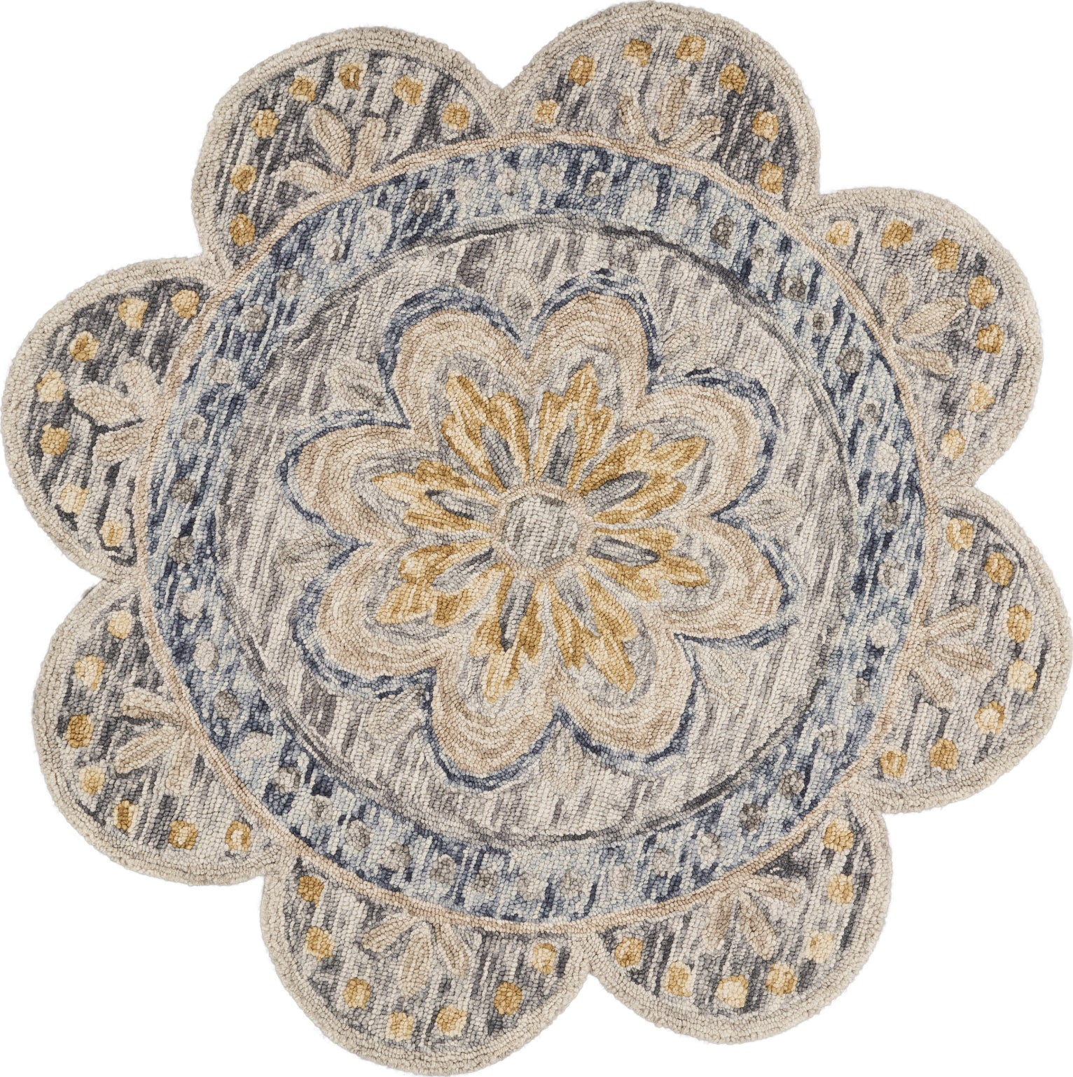 LR Resources Dazzle Summer Petals Gray Area Rug main image