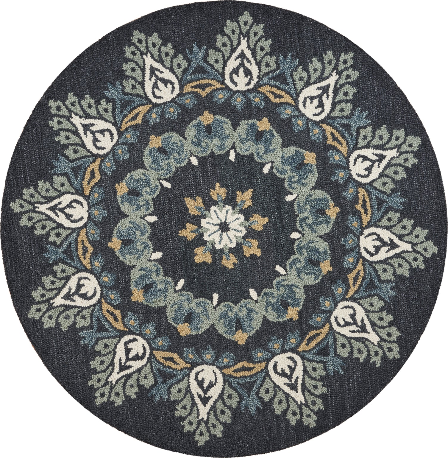 LR Resources Dazzle Charcoal Paradise Area Rug main image