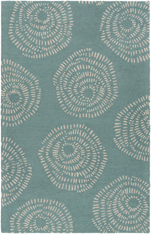 Surya Decorativa DCR-4010 Teal Area Rug by Lotta Jansdotter main image