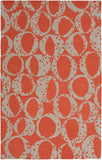 Surya Decorativa DCR-4015 Rust Area Rug by Lotta Jansdotter 5' x 8'
