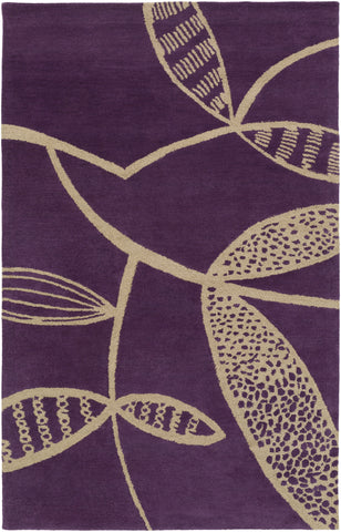 Surya Decorativa DCR-4036 Purple Area Rug by Lotta Jansdotter main image