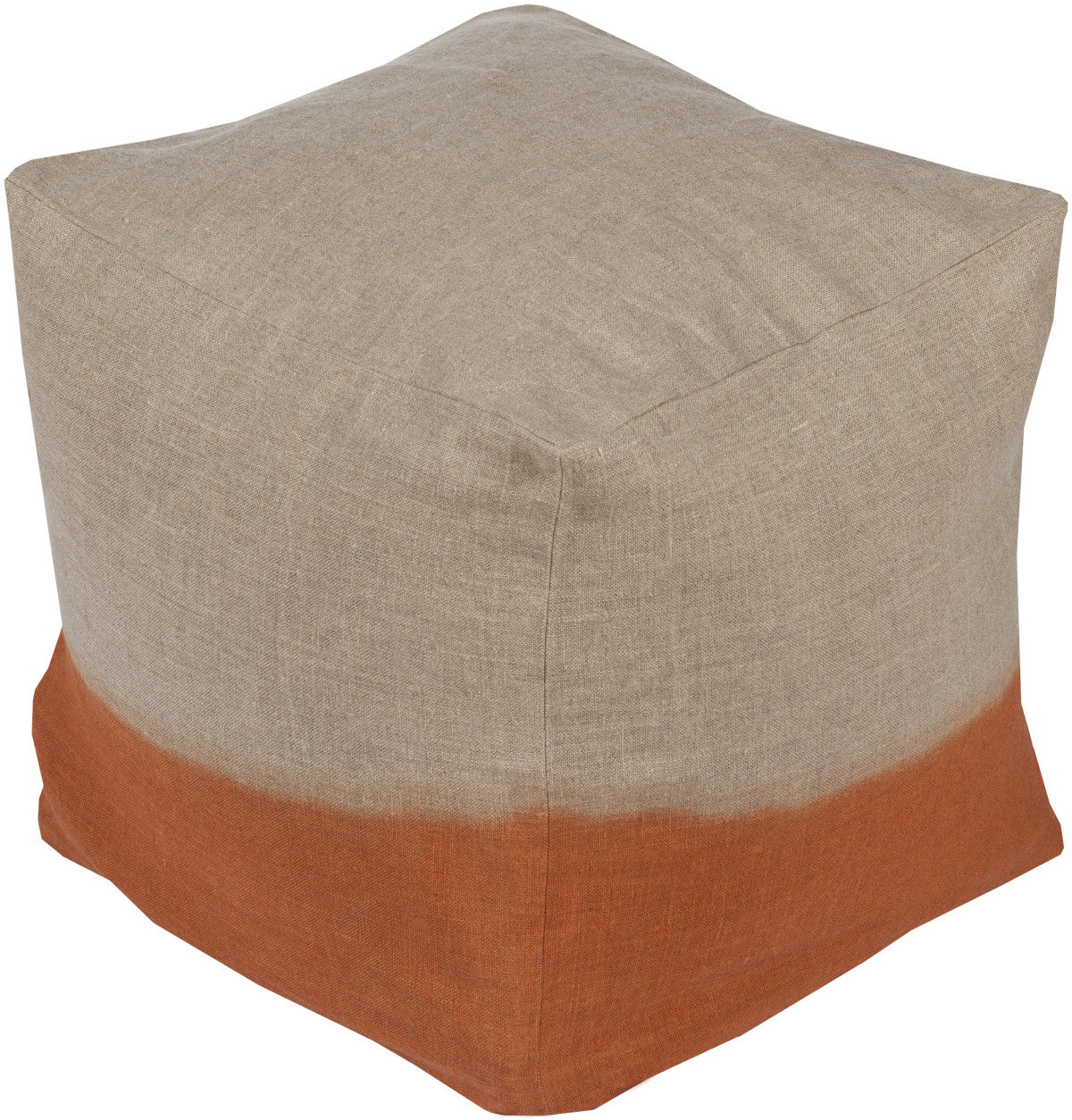 Surya Dip Dyed DDPF-007 Orange Pouf