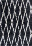 KAS Delano 1152 Charcoal Visions Shag Weave Area Rug