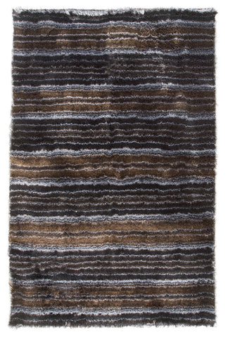 MAT Surface Delhi Black/Silver Area Rug main image