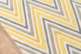 Momeni Delhi DL-48 Yellow Area Rug Closeup