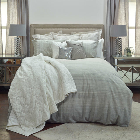 Rizzy BT4054 Sebastian Charcoal Natural Bedding main image